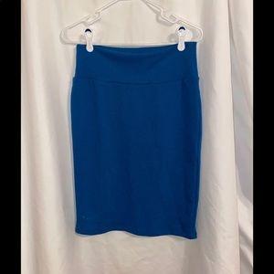 NWT LULAROE Blue.Cassie Skirt XL M